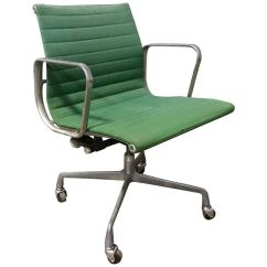 Desk Chair Herman Miller Affordable Massage Set Of Six Charles Eames Aluminium Group Chairs At Ray For Full Option Rare Green