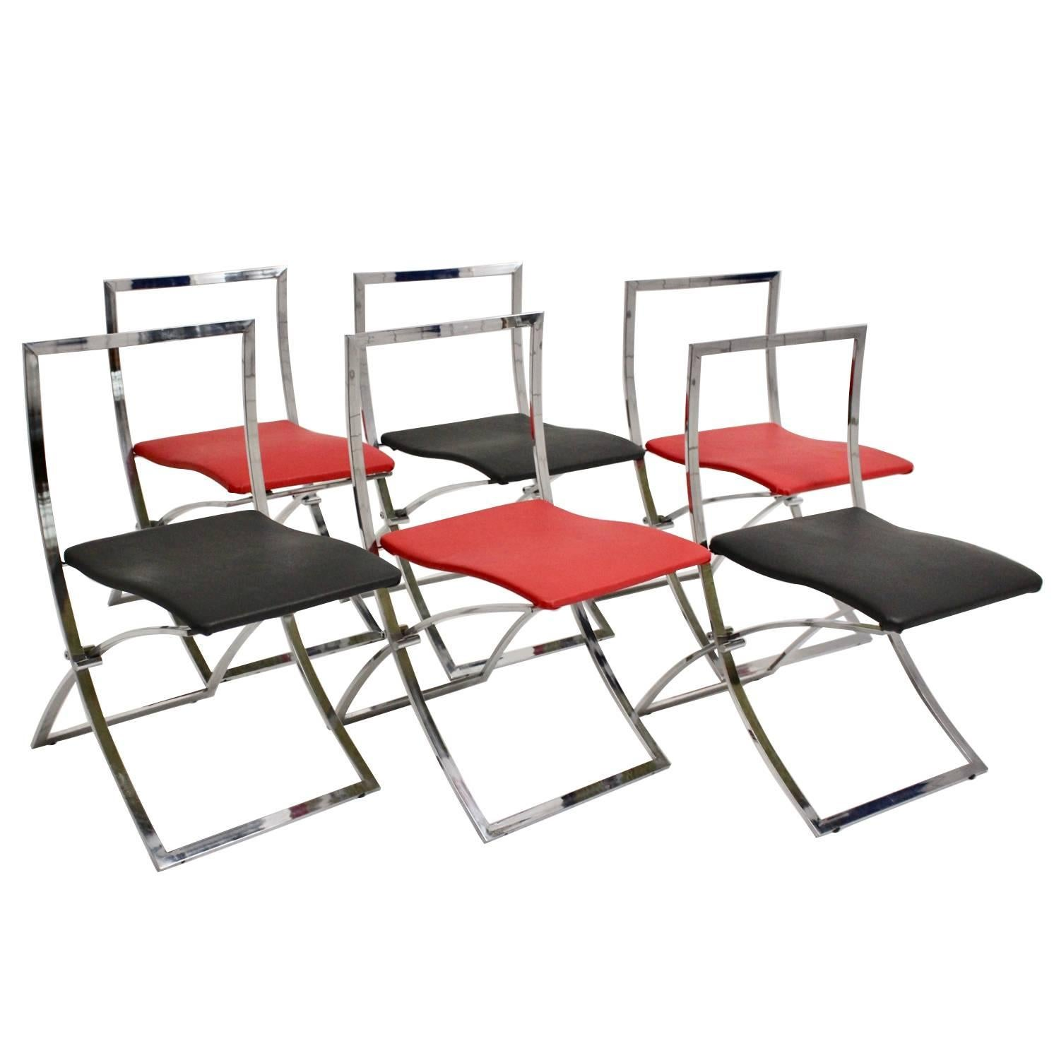 Foldable Dining Chairs Red And Black Folding Dining Chairs Luisa By Marcello Cuneo 1970 Italy