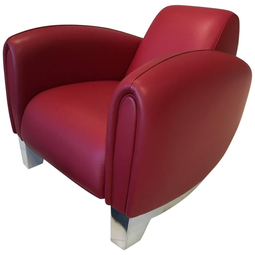 red lounge chair covers uk luton leather ds 57 bugatti by de sede for sale at 1stdibs