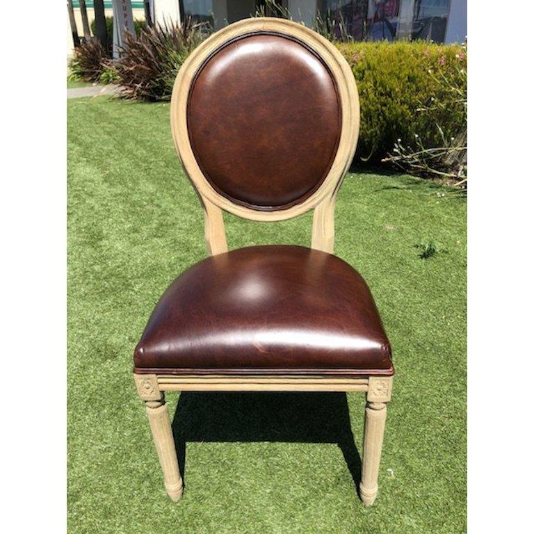 Restoration Hardware Leather Chairs Restoration Hardware Vintage French Round Dining Chairs Set Of Eight