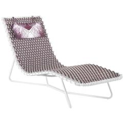 Purple Chaise Lounge Chair Mountain Buggy Roberto Cavalli Papeete Outdoor In For Sale