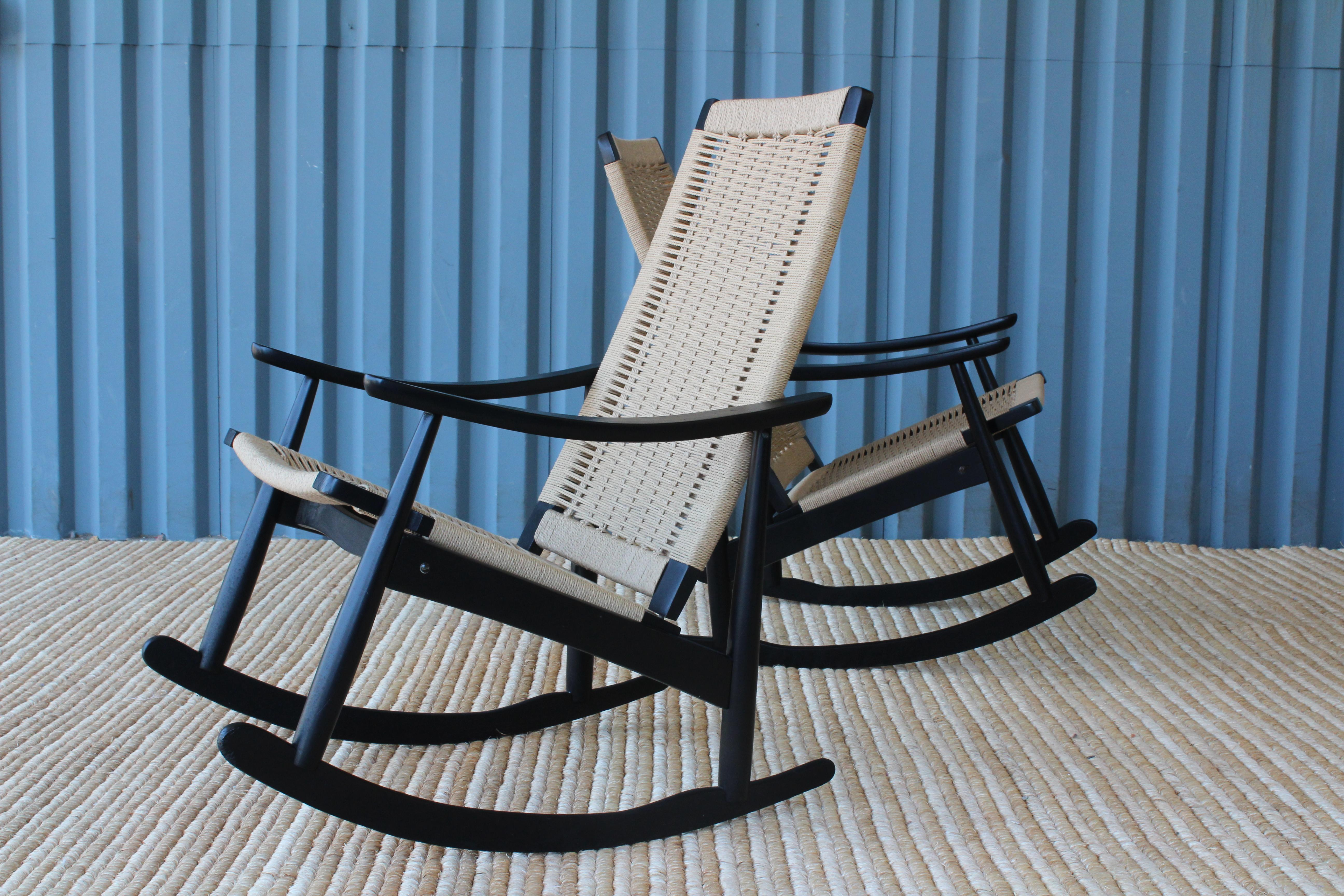 woven rocking chair lounge covers big w chairs with seats 1960 at 1stdibs mid century modern for sale