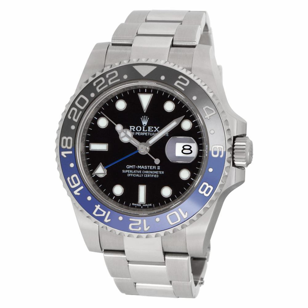 Rolex GMT Master II 116710BLNR. Black Dial. Certified and Warranty For Sale at 1stdibs