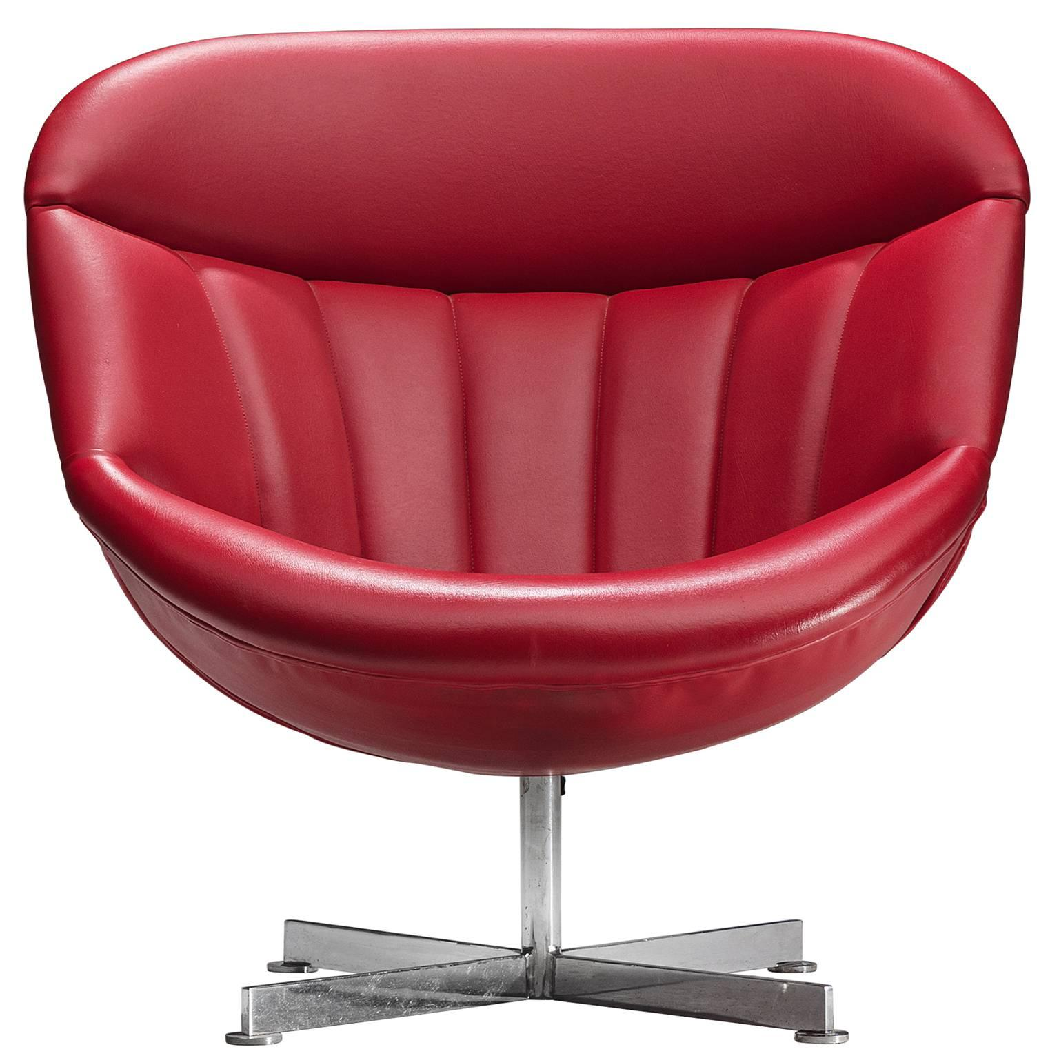 red lounge chair small arm chairs rudolf wolf for rohe sale at 1stdibs