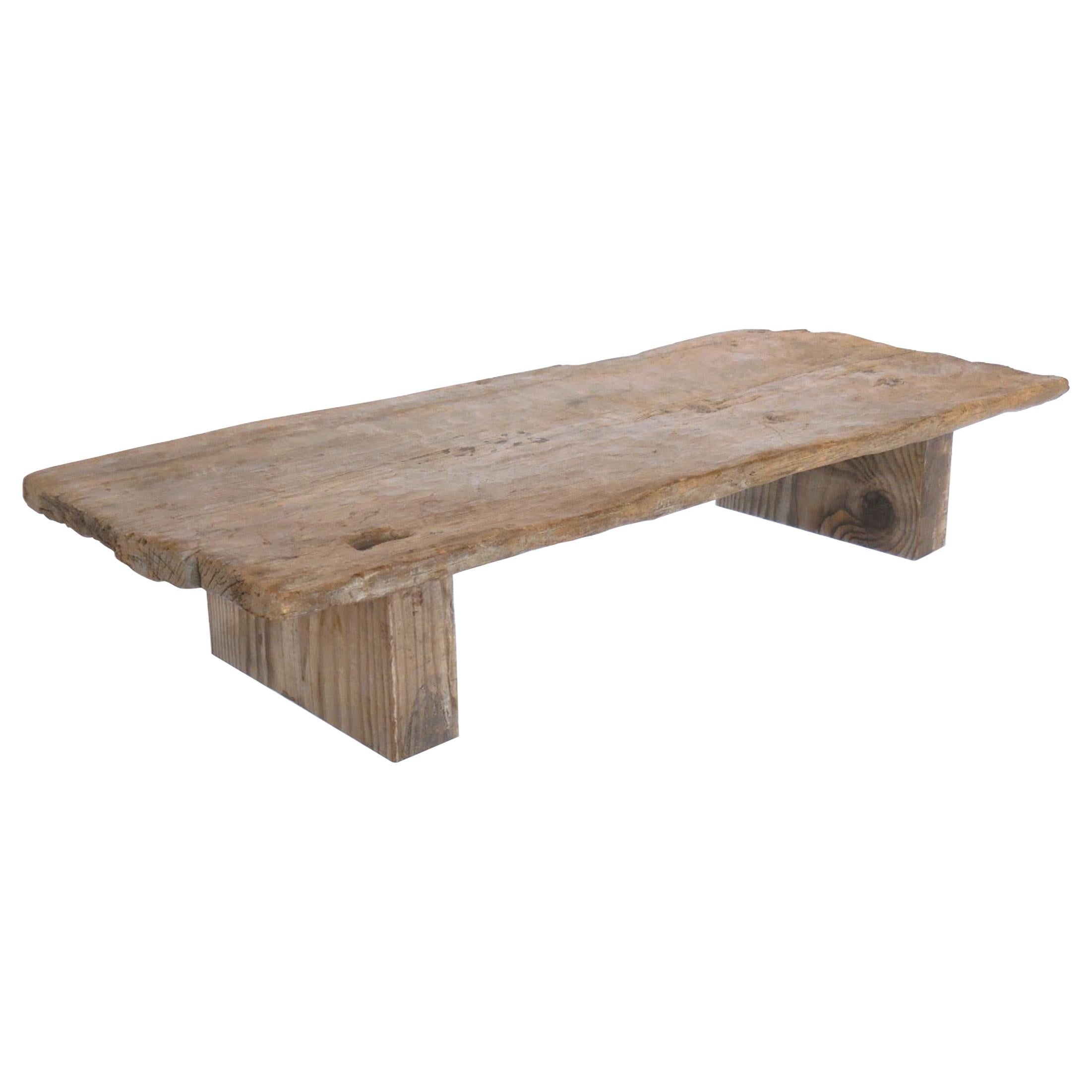 rustic modern low coffee table