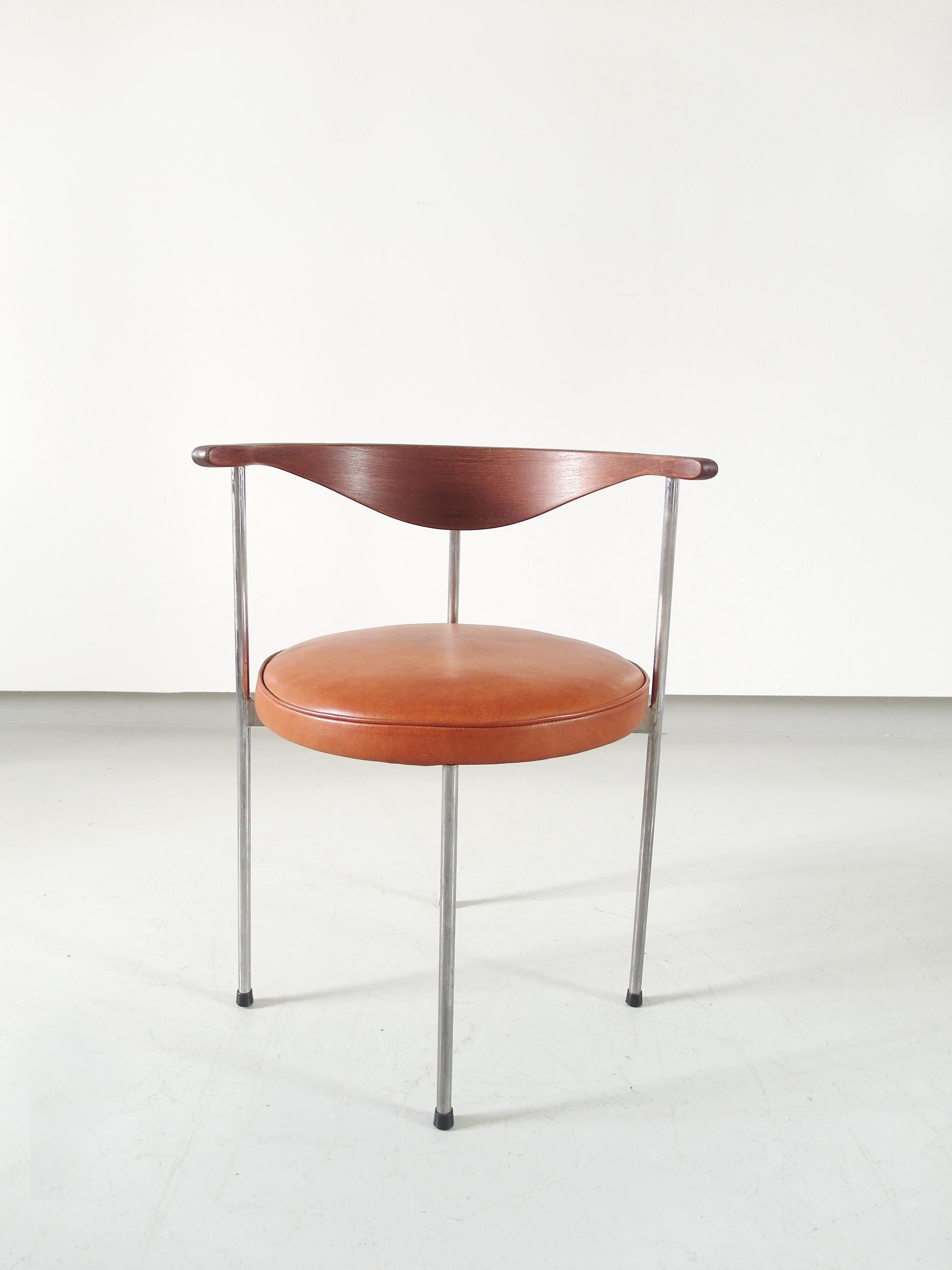 Minimalist Desk Chair Scandinavian Desk Side Chair By Frederik Sieck For Fritz Hansen Denmark 1964