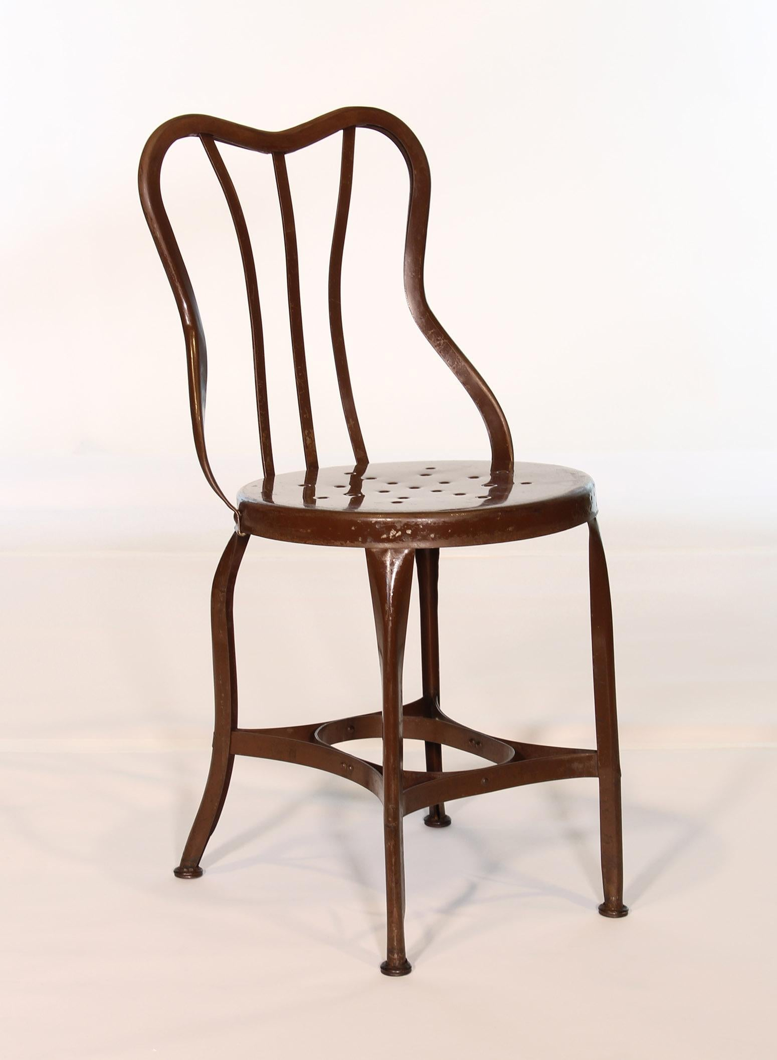 cafe chairs metal chair covers adelaide sa set of 5 antique by toledo for sale at 1stdibs