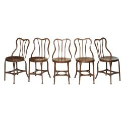 Antique Metal Chairs For Sale Wedding Chair Covers Set Of 5 Cafe By Toledo At 1stdibs