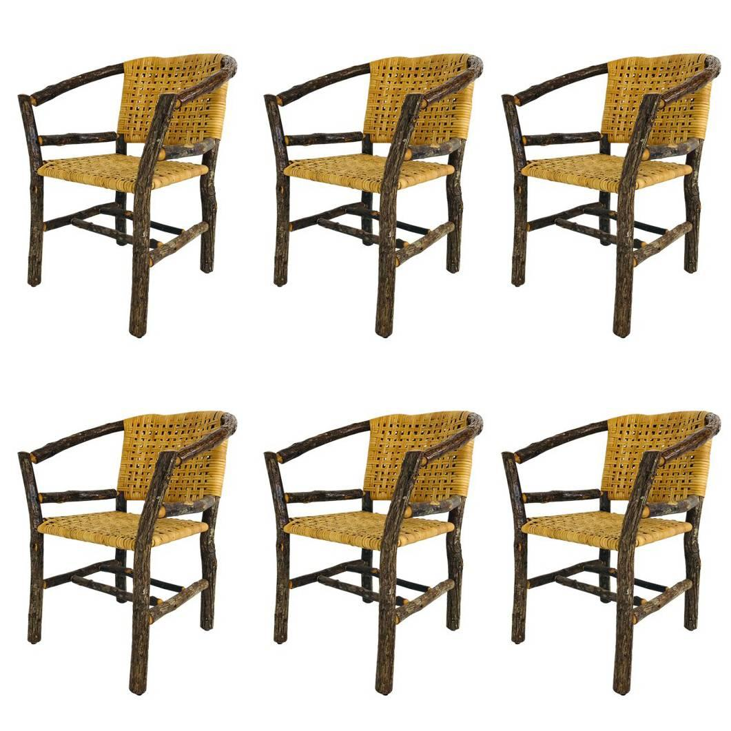 hickory chairs for sale steelcase office chair canada set of six adirondack at 1stdibs