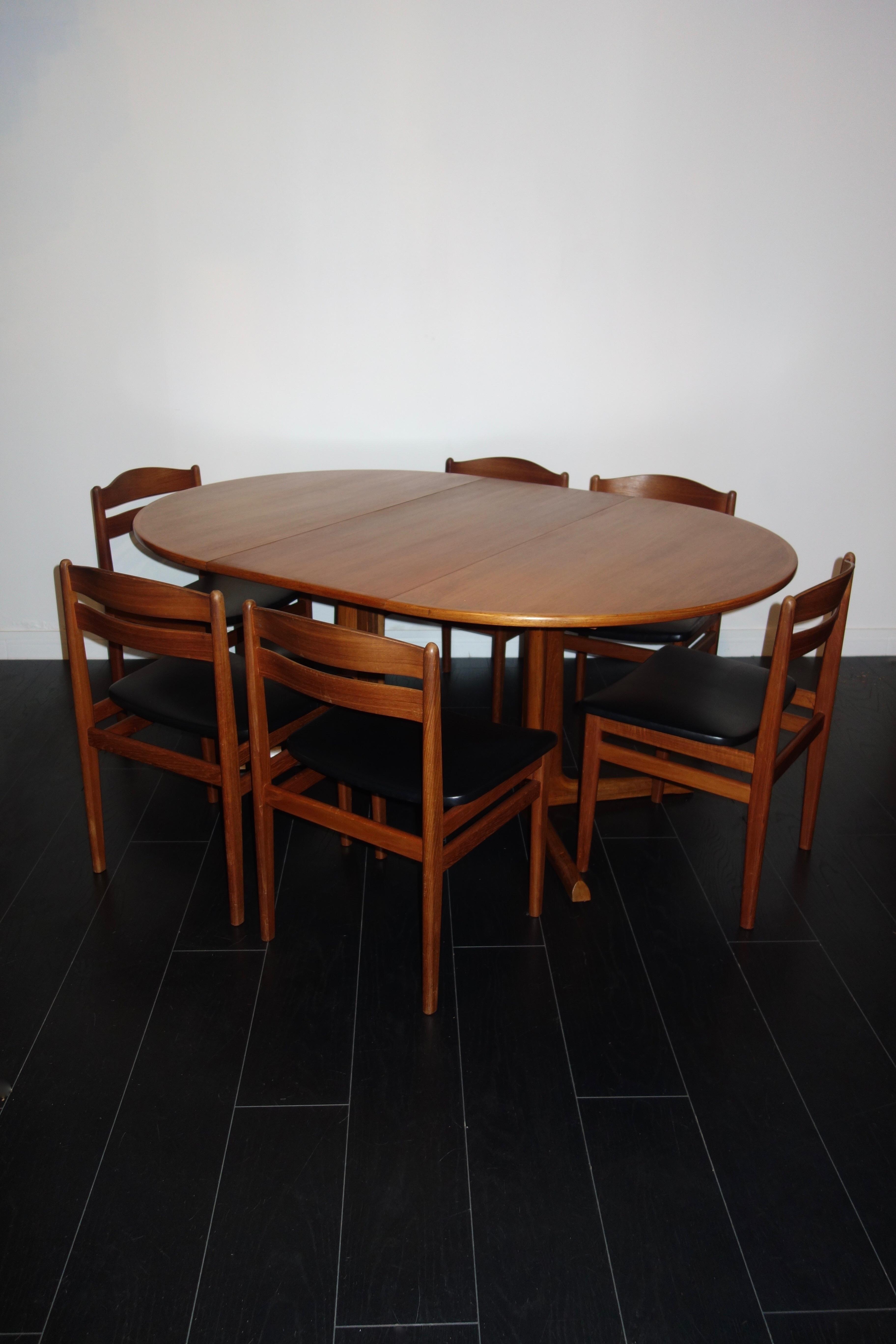 Set of 6 Scandinavian Boltinge Mobelfabrik Dining Chairs