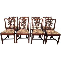 Hickory Chairs For Sale Raise Chair Height Set Of Eight Chippendale Style Dining By At 1stdibs