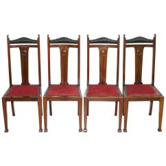 Liberty Dining Chairs Acrylic Chair Legs And Co Set Of 14 Gothic Style Arts Crafts Oak Four S London Room Archibald Knox