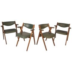 Coronet Folding Chairs Orange Resin Adirondack Chair Set Of Four Midcentury By Norquist Products For Sale