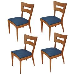Heywood Wakefield Dogbone Chairs Blue Bedroom Chair Uk Set Of Four Vintage Dining For Sale