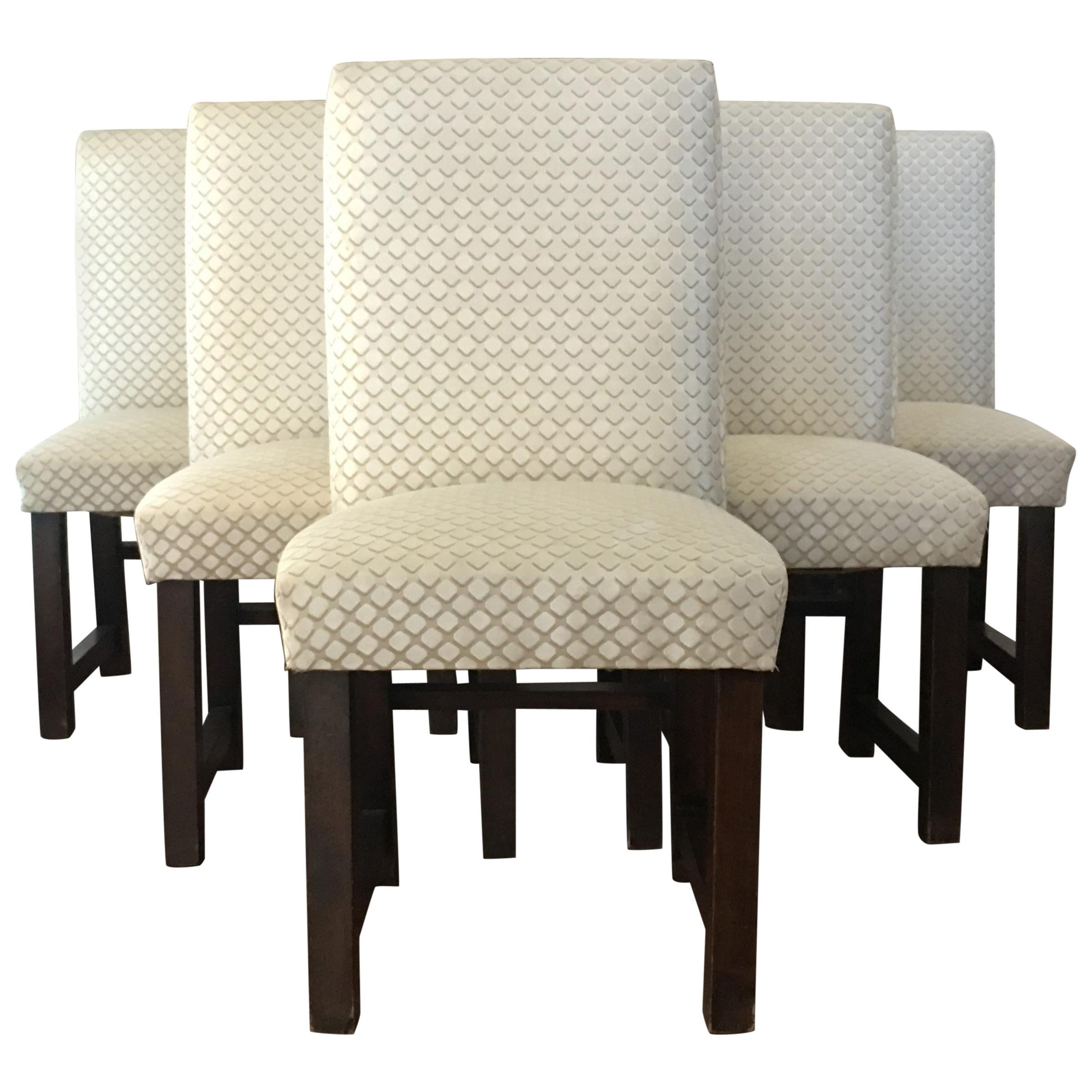 dining chair upholstery custom gaming set of six art deco chairs with new by lizzo italy for sale