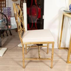 Bamboo Chairs For Sale Chair Steel Hs Code Set Of Six Brass Faux At 1stdibs Mid Century Modern