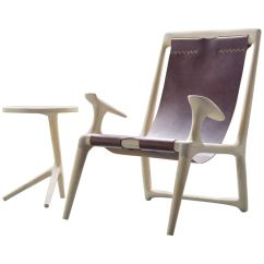 Sling Chairs For Sale Ikea Ghost Chair White Ash And Brown Leather Accent Lounge