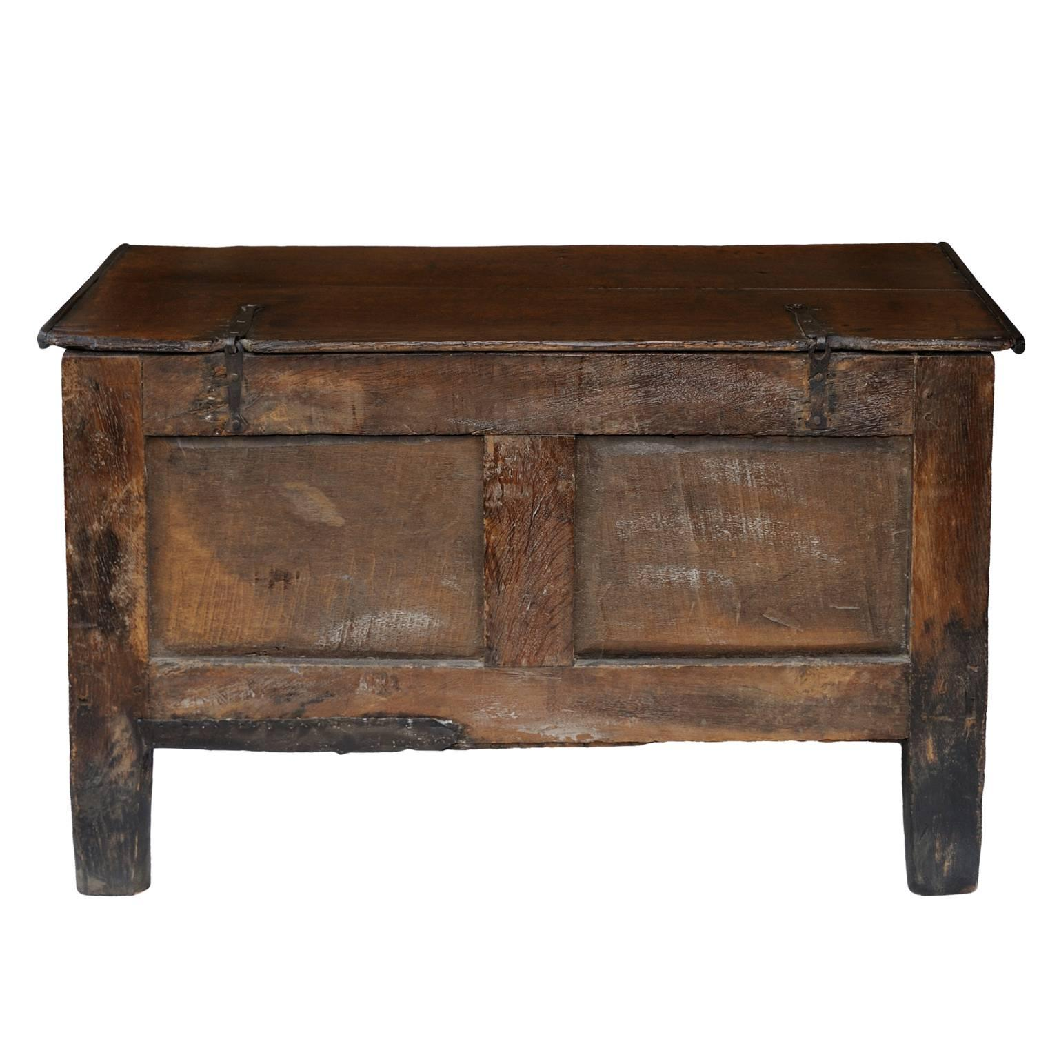 Small 17th Century Oak Coffer Circa 1680 For Sale At 1stdibs