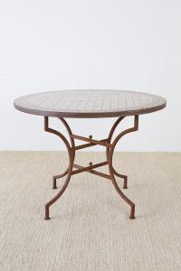 Spanish Dining Table with Moroccan Mosaic Tile Inlay For ...