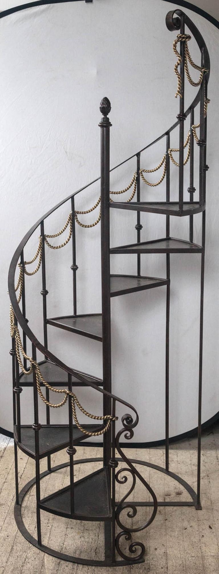 Spiral Bent Iron Stairs For Sale At 1Stdibs | Steel Stairs For Sale | Spiral | Indoor | Interior | Cantilever | Straight