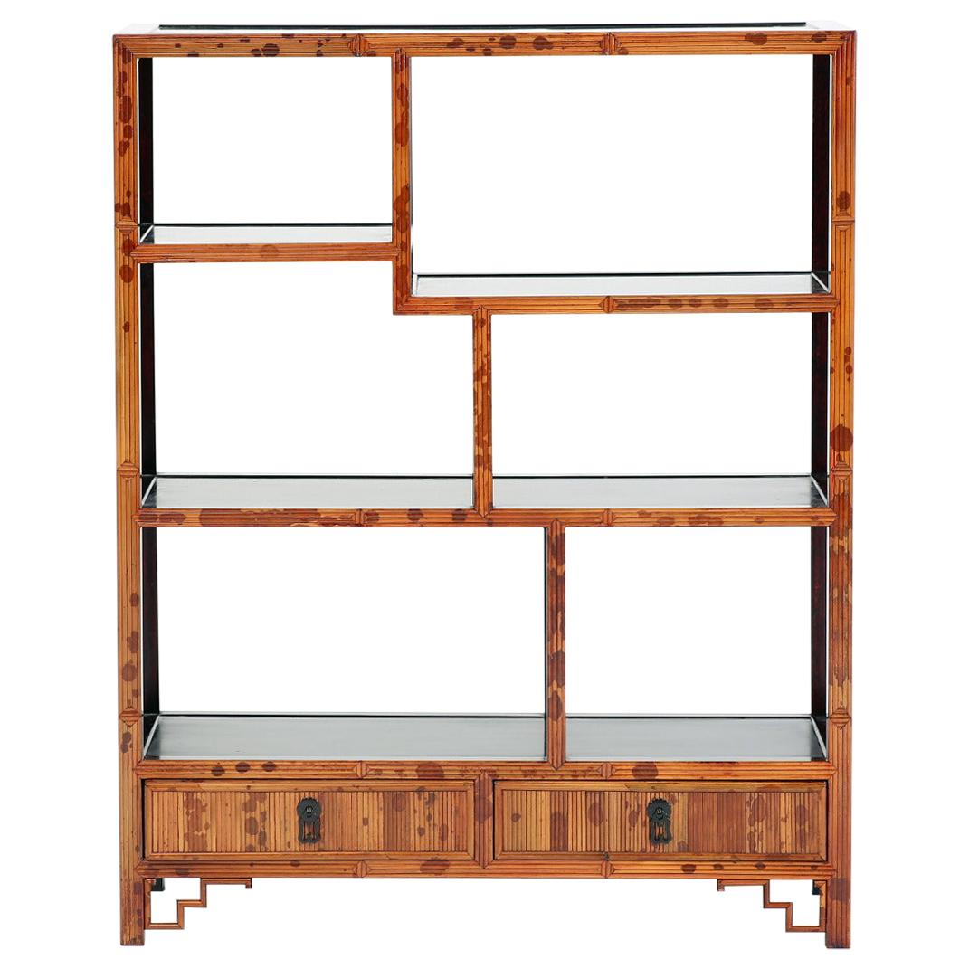 Ce qu'il ne faut pas rater. Spotted Bamboo Chinoiserie Curio Shelves Display Cabinet For Sale At 1stdibs