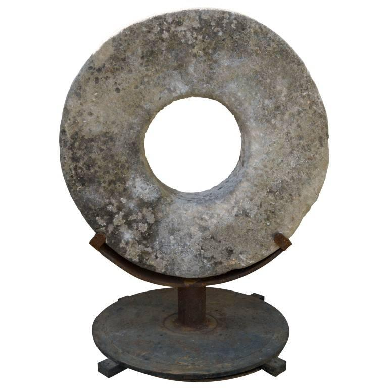 Antique Sharpening Stone Wheel For Sale