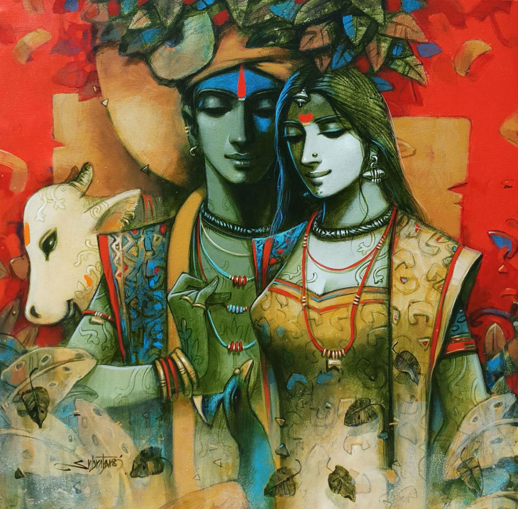 Modern Art Krishna   Arte Inspire