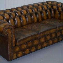 Chesterfield Sofa Bed Flower English Style Substantial Hand Dyed Aged Brown Leather From We Are Delighted To Offer For Sale This Mill Brook Furnishings