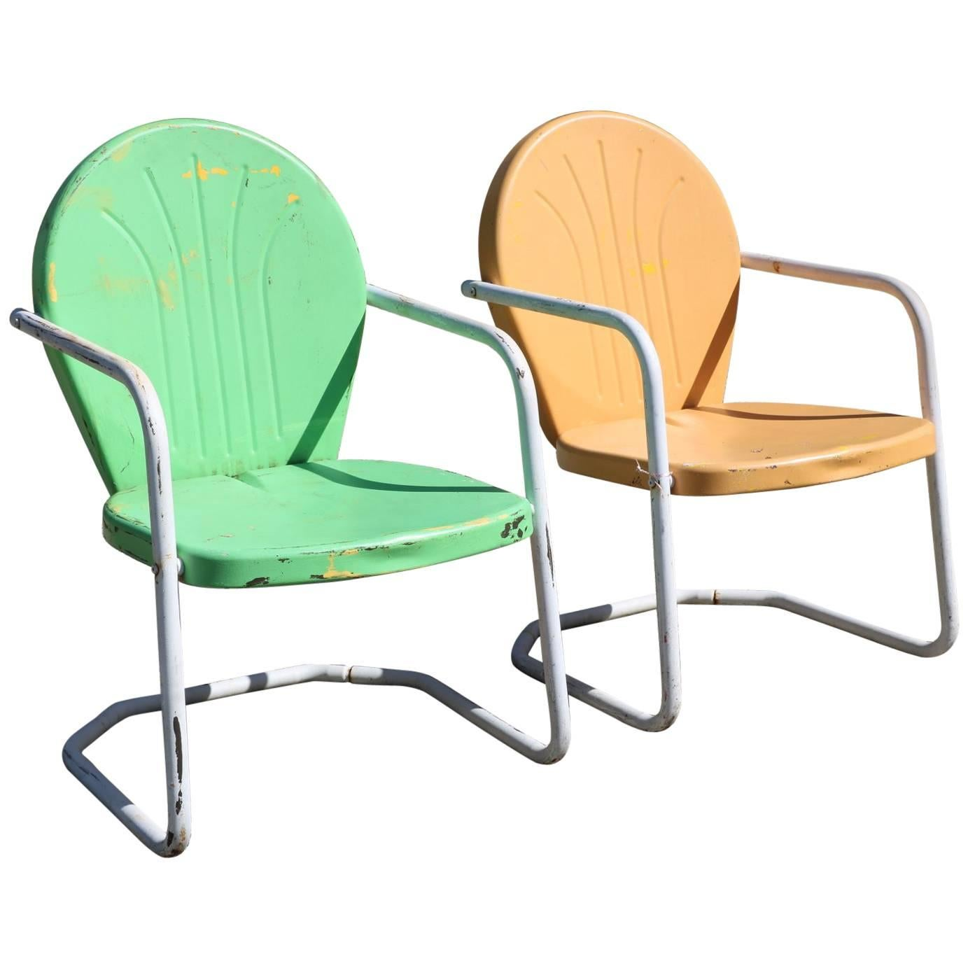 Lime Green Chairs Summertime Tangerine And Lime Green Retro Rockers Vintage 1950s Outdoor Chairs