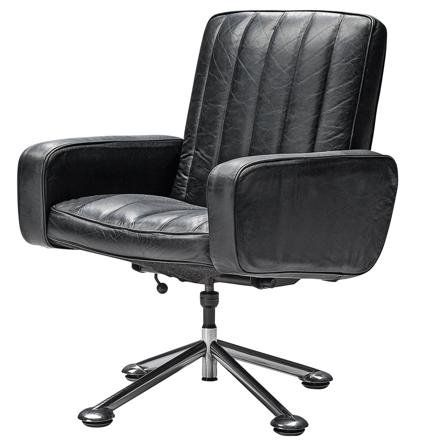 black leather desk chairs wire dining room sven ivar dysthe chair in at 1stdibs for sale