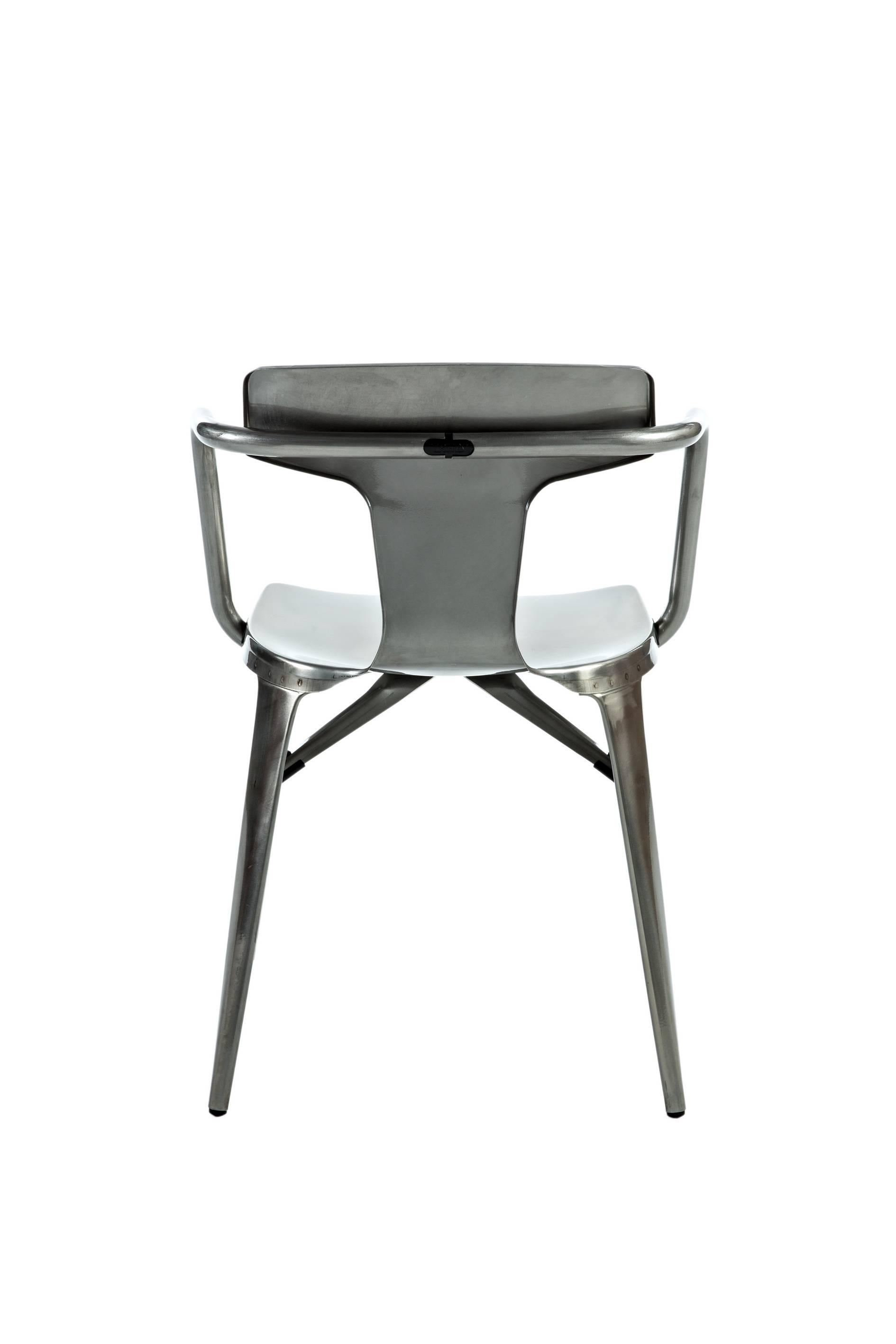 steel chair manufacturing process outdoor cushion t14 in with glossy lacquer by patrick norguet and tolix conceived the revolutionized range far from