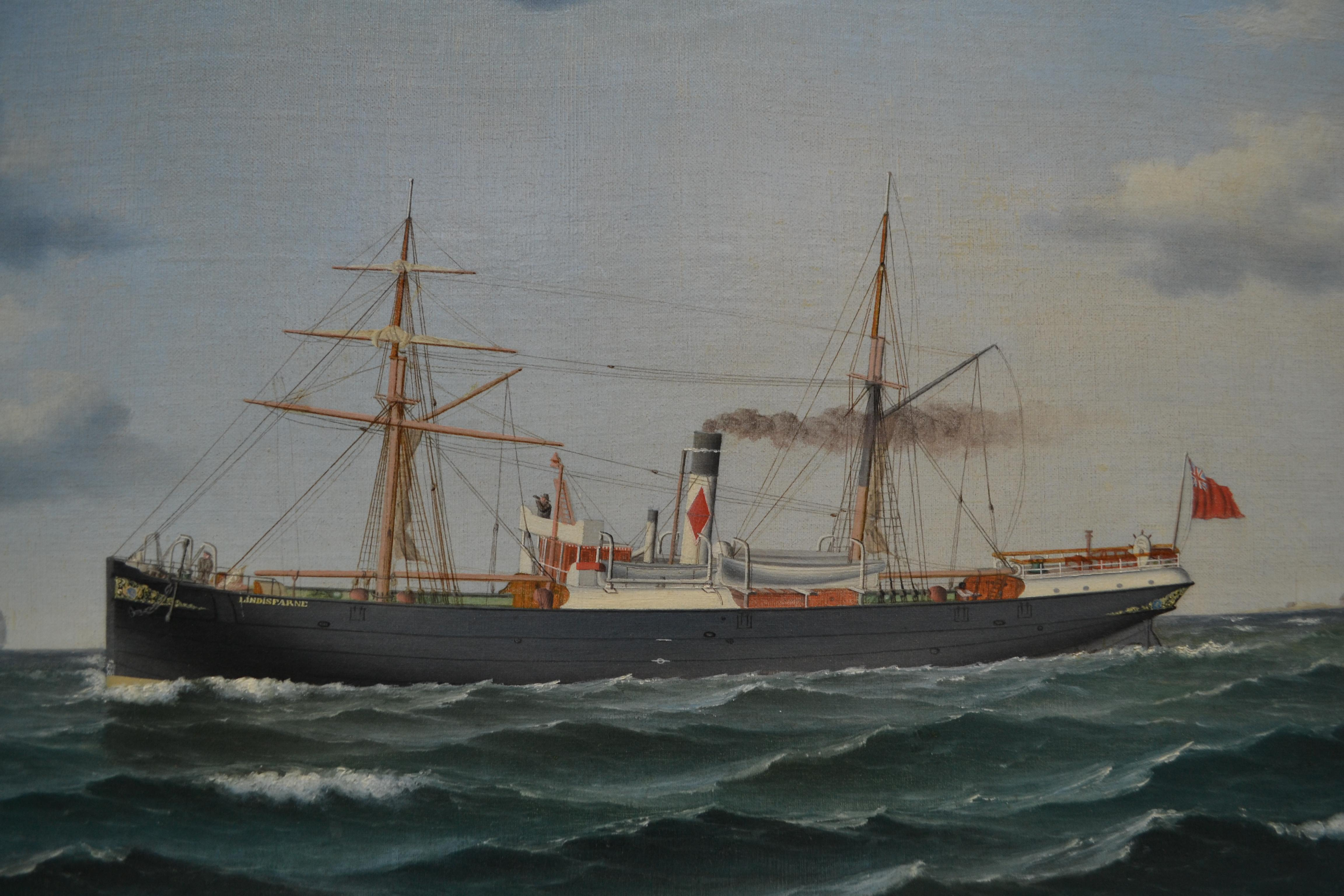 Dundee Steamship Lindisfarne By Danish 19th Century