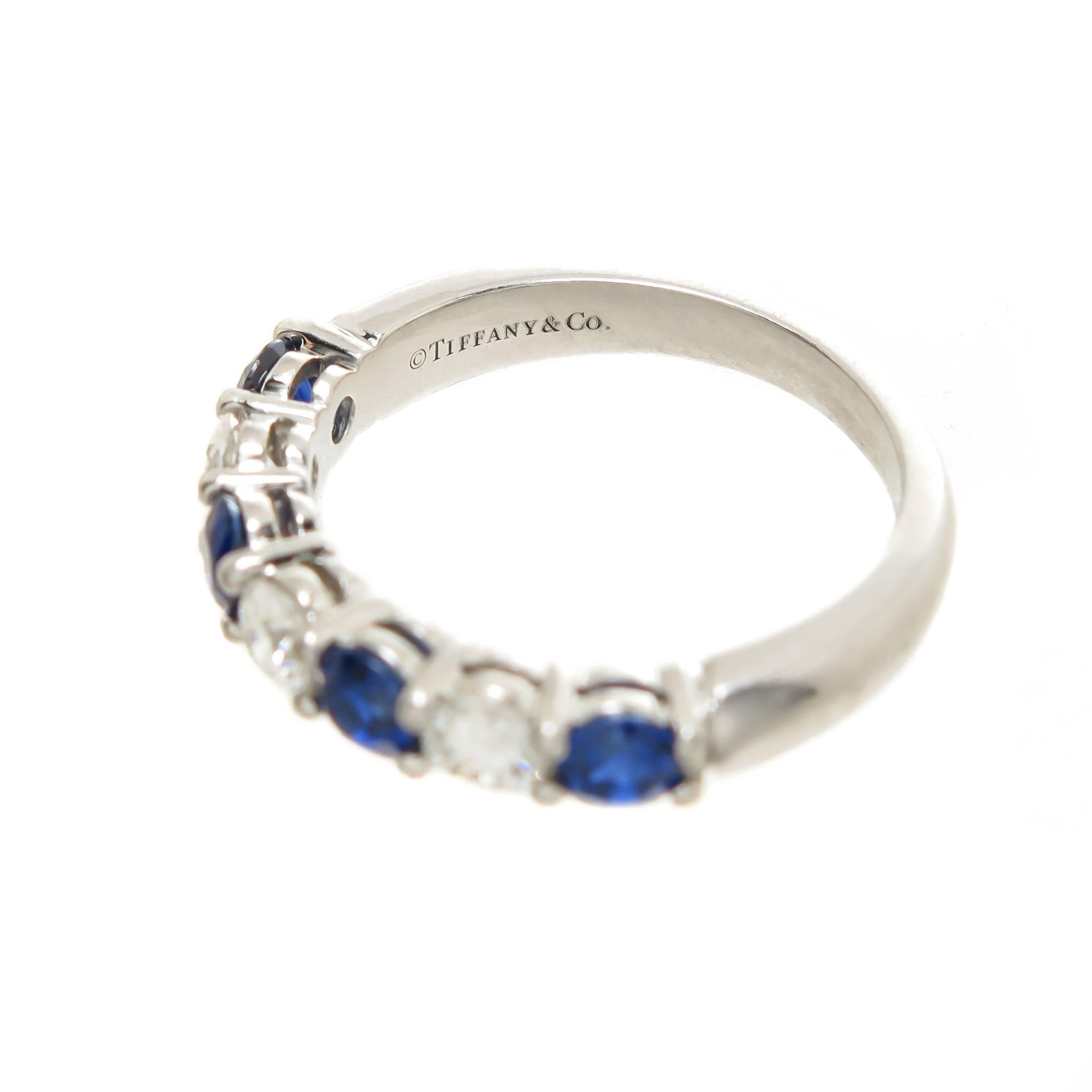 1 Carat Round Diamond Platinum Eternity Ring