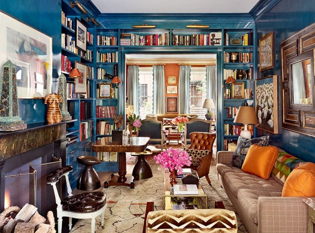 Library Maximalist Living Room In Brooklyn NY By Nick