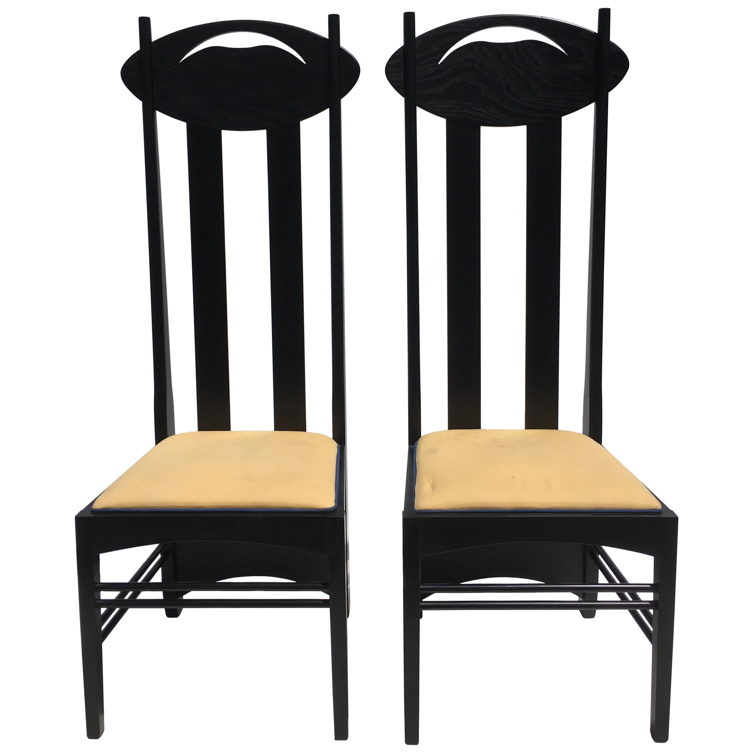 tall back chairs best outdoor folding two charles rennie mackintosh by cassina at 1stdibs for sale