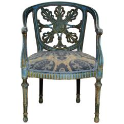 Unusual Armchair Wood Arm Chair Covers Antique French With Fraternal Symbols For Sale At