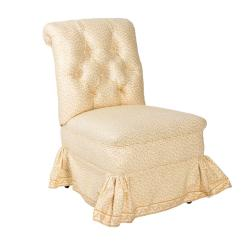 Upholstered Slipper Chair Drop Side Table And Chairs Victorian At 1stdibs For Sale