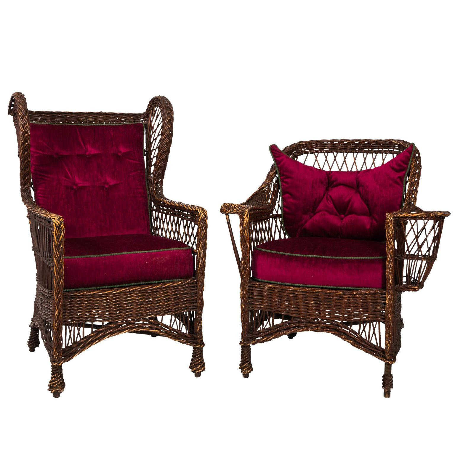 wicker chair for sale banquet covers derry victorian at 1stdibs