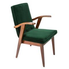 Vintage Arm Chair Painted Kitchen Chairs Ideas Armchair Dark Green Velvet Mieczyslaw Puchala Poland 1960s For Sale