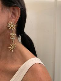 Vintage Coco Chanel Diamant Logo Statement Earrings For ...