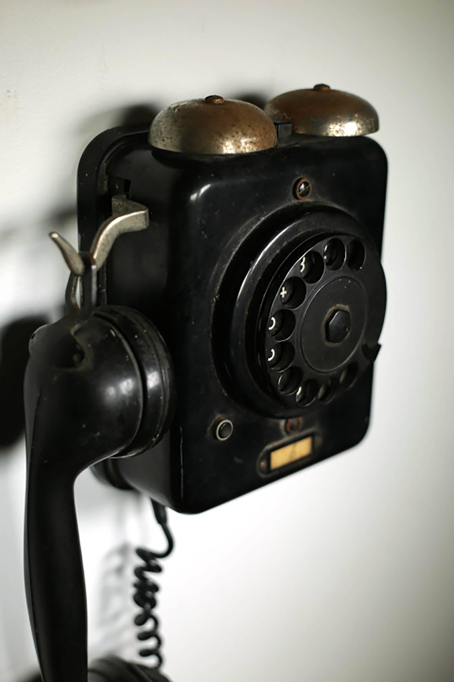 medium resolution of metal body with a bakelite rotary dial telephone circa 1950s might possible work if
