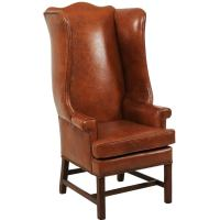 Mid-Century Reupholstered Italian Wingback Chair For Sale ...