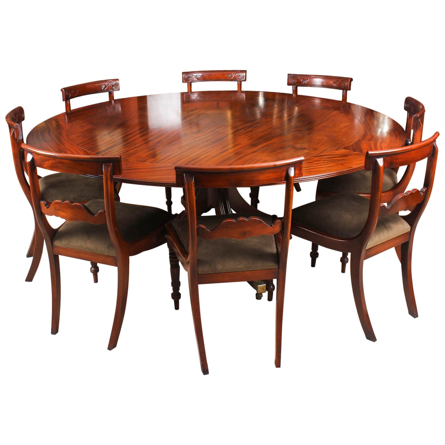 8 Chair Dining Set Vintage Mahogany Jupe Dining Table Leaf Cabinet And 8 Chairs