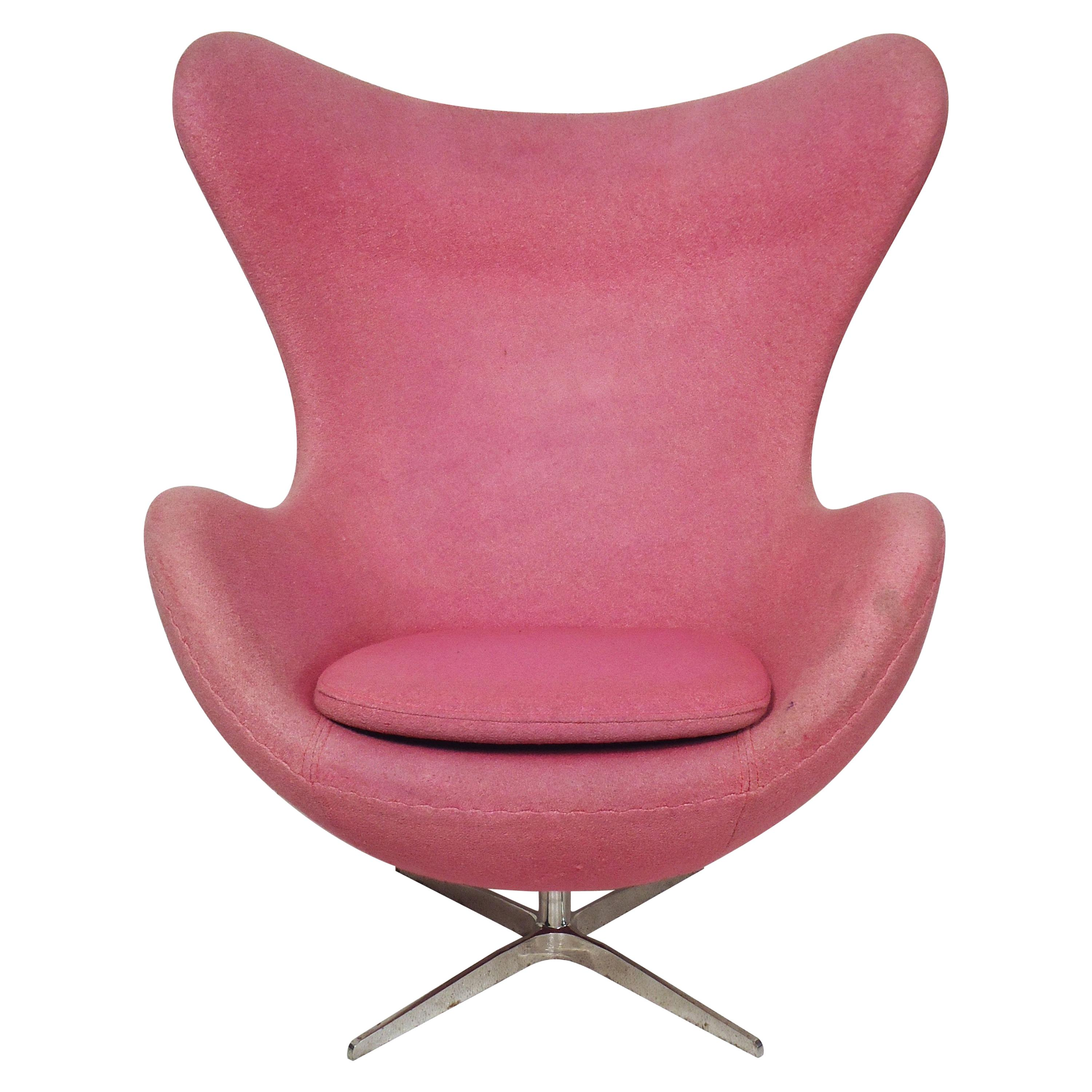 Pink Egg Chair Vintage Modern Egg Chair By Arne Jacobsen