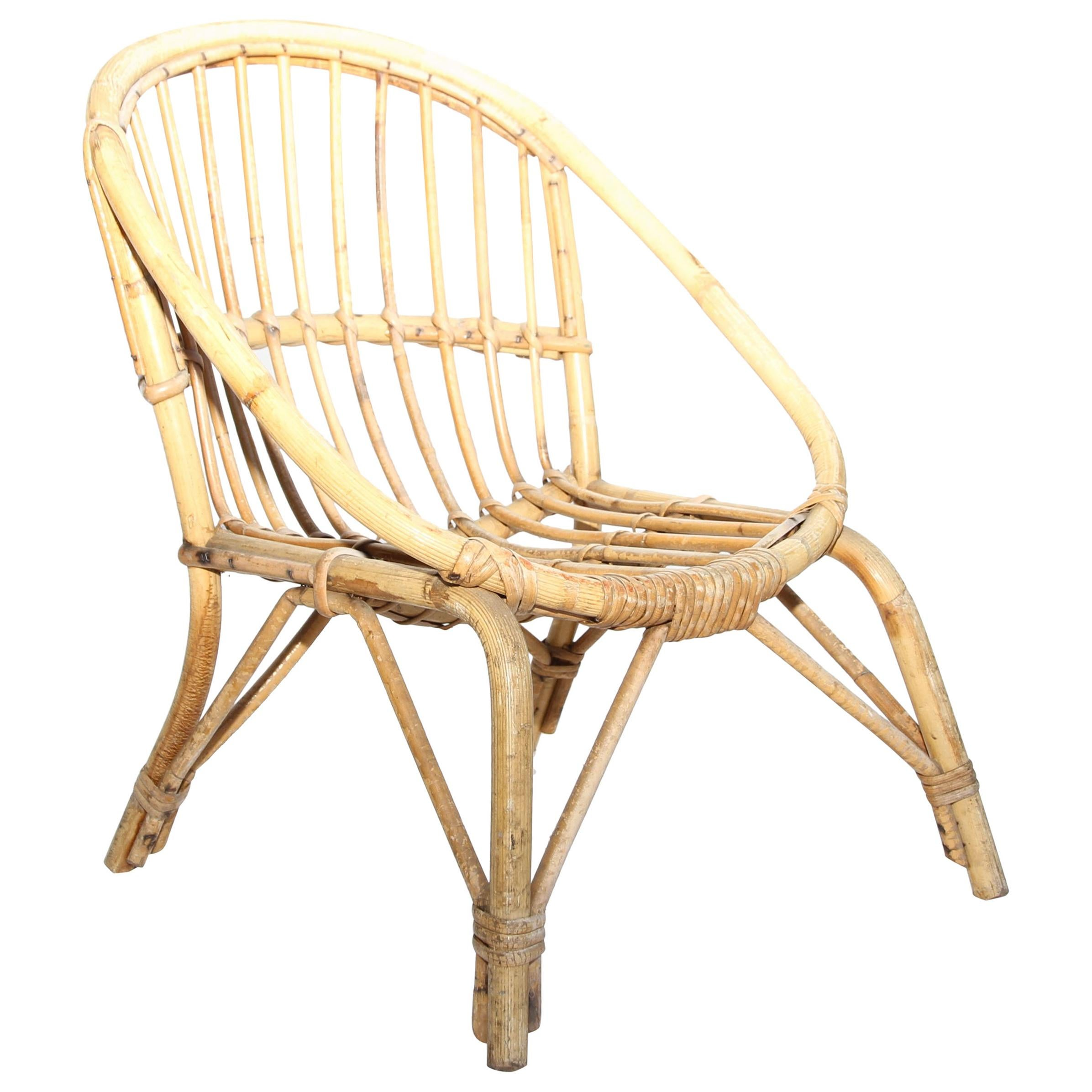 childs rattan chair how to clean suede chairs vintage child s for sale at 1stdibs