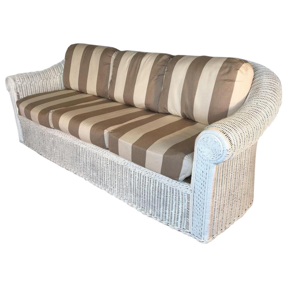 white wicker sofa for sale louis xv 1930s american at 1stdibs vintage sculptural