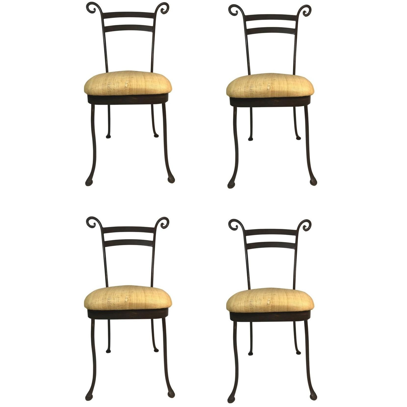 parisian cafe chairs desk chair pbteen french style bistro rattan dining for sale at vintage set of 4 iron side handcrafted