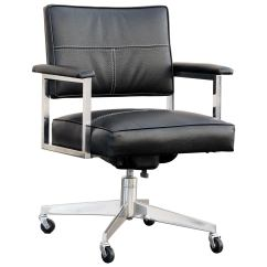 Steelcase Vintage Chair Medline Transport Office Refinished In Black At 1stdibs For Sale