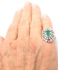 Vintage Tiffany and Co Diamond Emerald Platinum Cocktail ...
