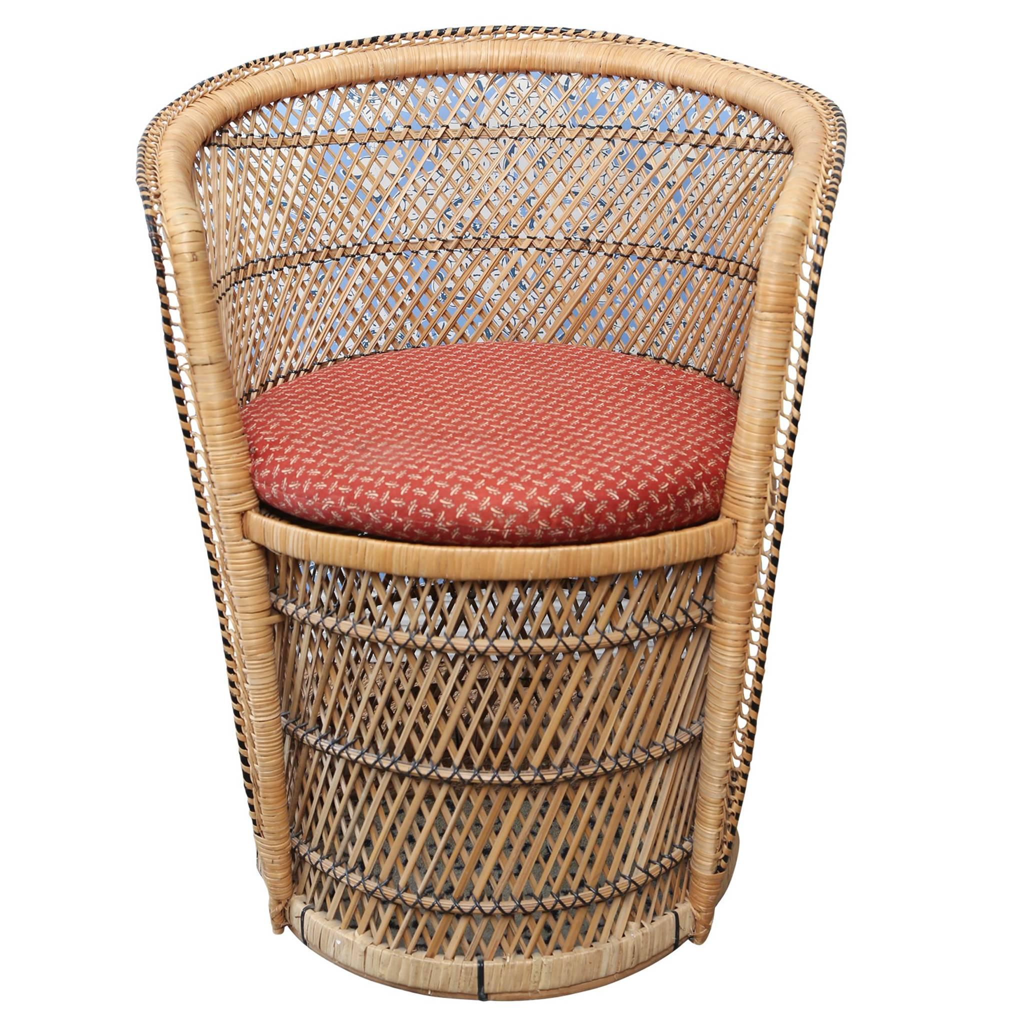 vintage peacock chair antique rocking chairs for sale woven rattan at 1stdibs